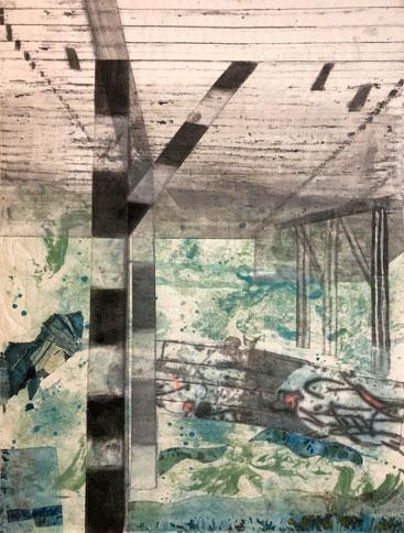 Harris Machinery Redux Inside #2, fabric, 15x20 board